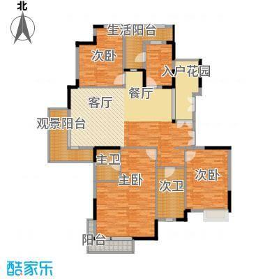 百悦尚城167.32㎡户型3室1厨