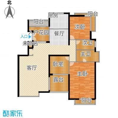百悦尚城151.00㎡户型2室1厅1厨