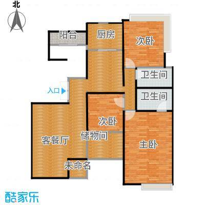百悦尚城150.27㎡户型3室1厅2卫1厨