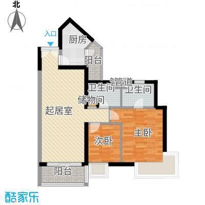 凤乐新村86.25㎡凤乐新村2室户型2室
