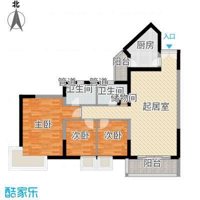 凤乐新村111.76㎡凤乐新村3室户型3室