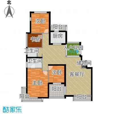 百悦尚城151.00㎡户型4室1厅2卫1厨