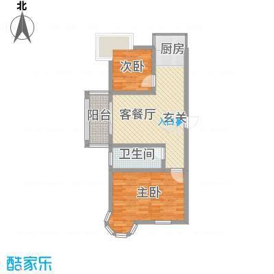 南浦花园83.01㎡南浦花园户型图玫瑰2室2厅1卫户型2室2厅1卫