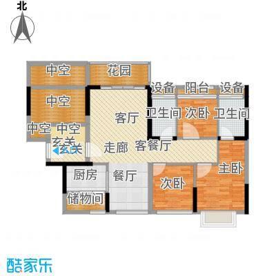 祥富花园123.00㎡祥富花园3室户型3室