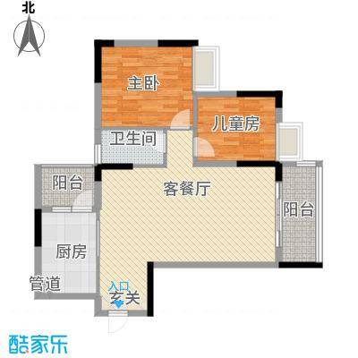景致尚寓景致尚寓户型图7座303示范单位2房2厅1卫77.26㎡户型户型10室
