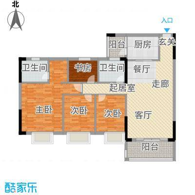 活力盈居112.00㎡活力盈居户型图一期二区14座024室2厅2卫1厨户型4室2厅2卫1厨
