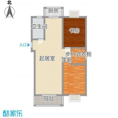 水榭华庭108.39㎡A型户型2室2厅1卫1厨