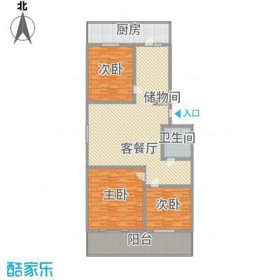 华宇绿洲210.00㎡华宇绿洲二期3室户型3室