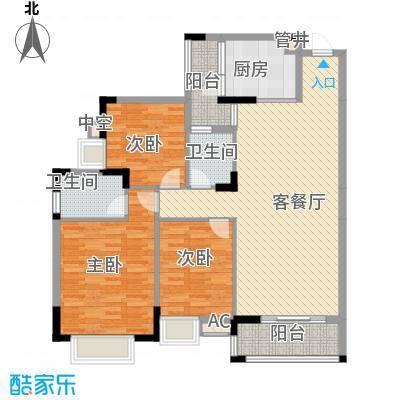 三正财富新地花园128.73㎡三正财富新地花园3室户型10室