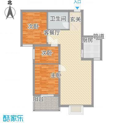 龙华・绿视界项目86.24㎡龙华・绿视界项目户型图D户型3室2厅1卫1厨户型3室2厅1卫1厨