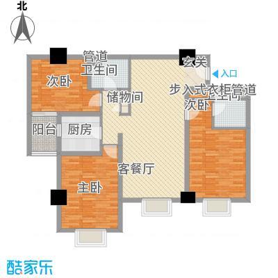 东岸未来城136.23㎡东岸未来城户型图3室2厅2卫1厨户型10室