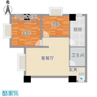 东岸未来城88.23㎡东岸未来城户型图2室2厅1卫1厨户型10室