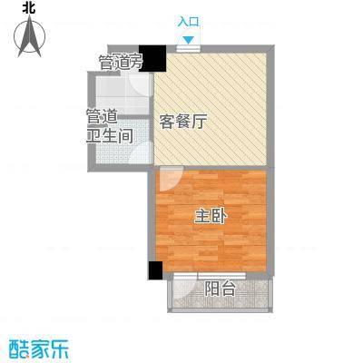 菁英汇55.72㎡菁英汇户型图平层1室1厅1卫1厨户型1室1厅1卫1厨