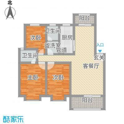 展鹏大厦108.00㎡展鹏大厦3室户型3室