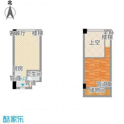 菁英汇41.31㎡菁英汇户型图跃层A+1室1厅1卫1厨户型1室1厅1卫1厨
