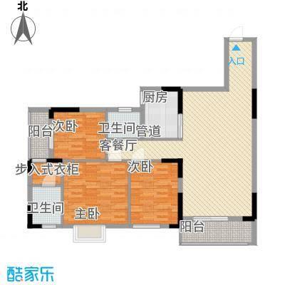 睿力上城120.34㎡睿力上城户型图A1号房D户型3室2厅2卫1厨户型3室2厅2卫1厨