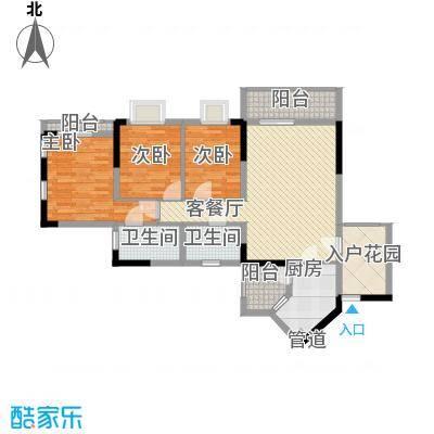 睿力上城118.49㎡睿力上城户型图A3/B1号楼D户型3室2厅2卫1厨户型3室2厅2卫1厨