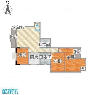 大朗中心花园三期152.30㎡大朗中心花园三期3室户型3室
