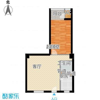 景泰翰林94.00㎡户型H4户型1室1厅1卫1厨