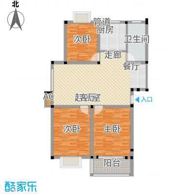 满芳庭102.50㎡满芳庭户型图一期D1户型3室2厅1卫1厨户型3室2厅1卫1厨