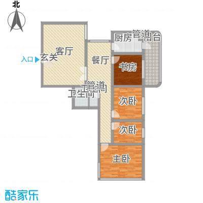 滨河小区151.01㎡滨河小区户型图4室2厅户型10室