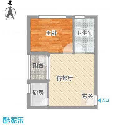 城果57.37㎡城果1室户型1室