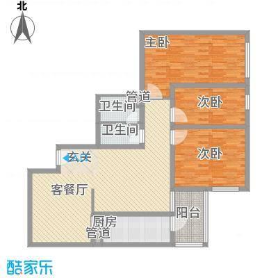 滨河小区111.14㎡滨河小区户型图3室2厅户型10室