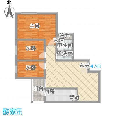 滨河小区110.71㎡滨河小区户型图3室2厅户型10室