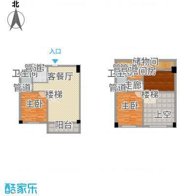 菁英汇86.73㎡菁英汇户型图复式3室2厅1卫1厨户型3室2厅1卫1厨