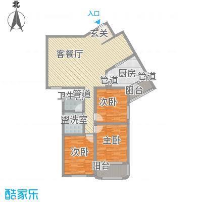 滨河小区151.39㎡滨河小区户型图3室2厅户型10室