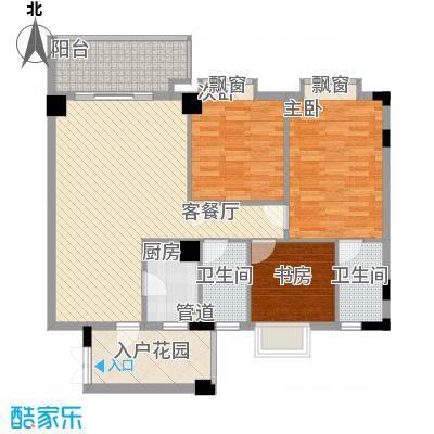东方水岸108.00㎡东方水岸户型图七座(01单元)3室3厅2卫1厨户型3室3厅2卫1厨