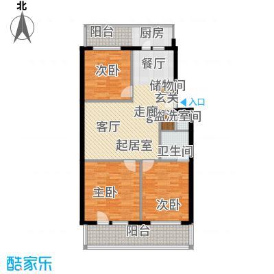 重减小区100.00㎡重减小区3室户型3室
