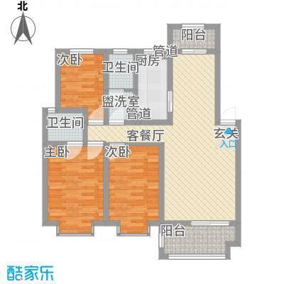 桃园雅居105.00㎡桃园雅居3室户型3室