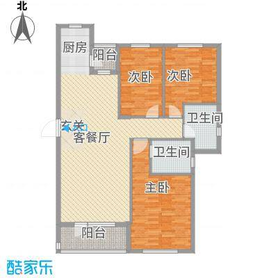 开成领地120.60㎡开成领地户型图4号楼C1户型3室2厅2卫1厨户型3室2厅2卫1厨