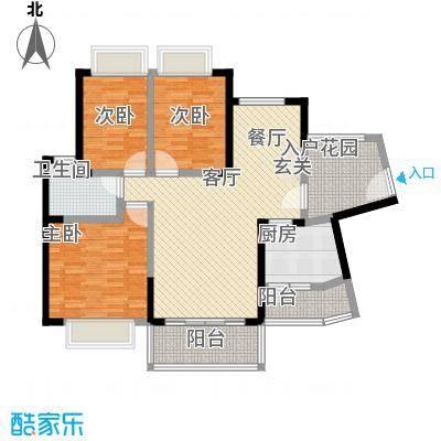 三正卧龙山花园82.00㎡三正卧龙山花园公寓3室户型3室