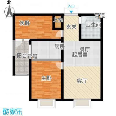 华龙苑景台92.03㎡D户型2室2厅1卫1厨