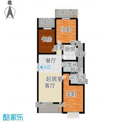 华龙苑景台149.57㎡C户型3室2厅2卫1厨