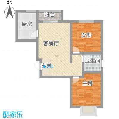 振兴花园101.00㎡振兴花园2室户型2室