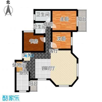 碧海红湖128.00㎡碧海红湖户型图3室2厅2卫1厨户型10室