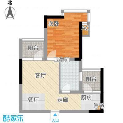 金美花园金泽台45.00㎡金美花园金泽台1室户型1室