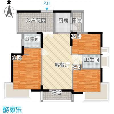 新时代家园103.00㎡新时代家园户型图1栋标准层A5户型3室2厅2卫1厨户型3室2厅2卫1厨