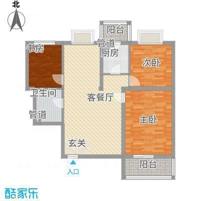 千泓花苑117.14㎡1栋F户型3室2厅1卫