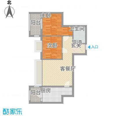 千泓花苑95.83㎡1栋D户型2室1厅1卫