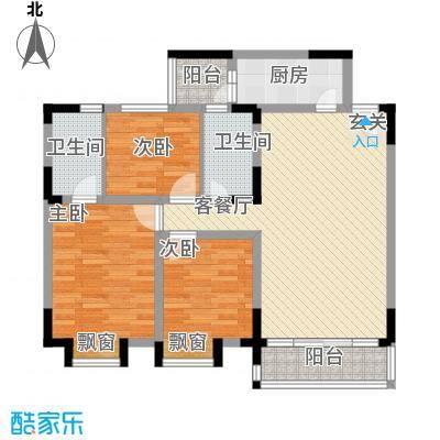 中银大厦110.00㎡中银大厦3室户型3室