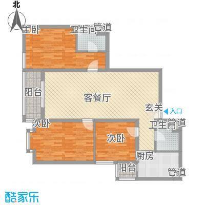庙前社区(颐园小区)135.85㎡庙前小区户型3室2厅1卫1厨