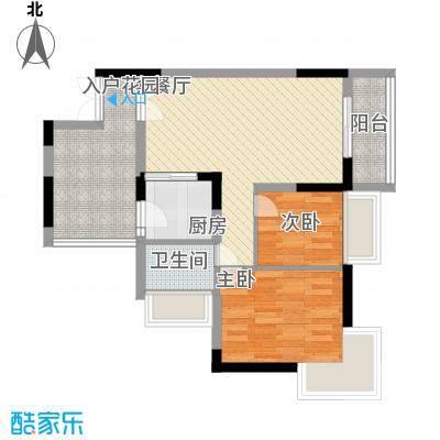 新时代家园69.00㎡新时代家园户型图3栋标准层02+03号房D1户型2室2厅1卫1厨户型2室2厅1卫1厨