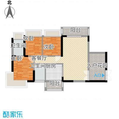新时代家园91.23㎡新时代家园户型图3栋标准层06号房D3户型3室2厅2卫1厨户型3室2厅2卫1厨