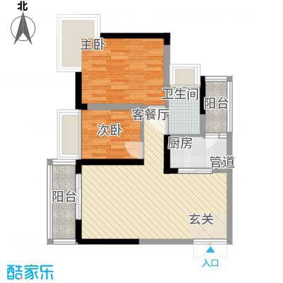 新时代家园70.30㎡新时代家园户型图3栋标准层01号房D2户型2室2厅1卫1厨户型2室2厅1卫1厨