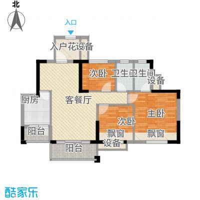 东海名都89.00㎡东海名都户型图4-6号楼5-17层奇数层05单元3室2厅2卫户型3室2厅2卫