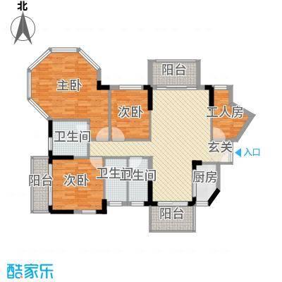 纯水岸花园133.00㎡纯水岸花园户型图10座c4室2厅3卫1厨户型4室2厅3卫1厨